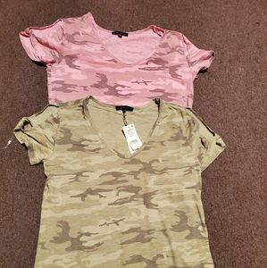 Camouflage shirt sz small pink/Green